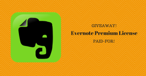 evernote premium giveaway