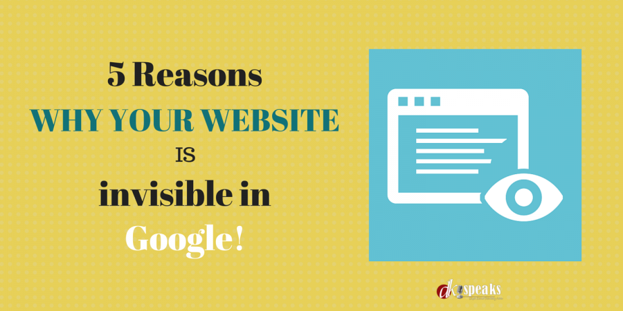 why your website is invisible to google