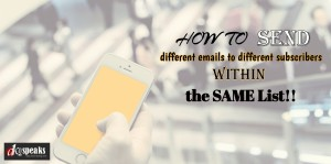 how to send different emails