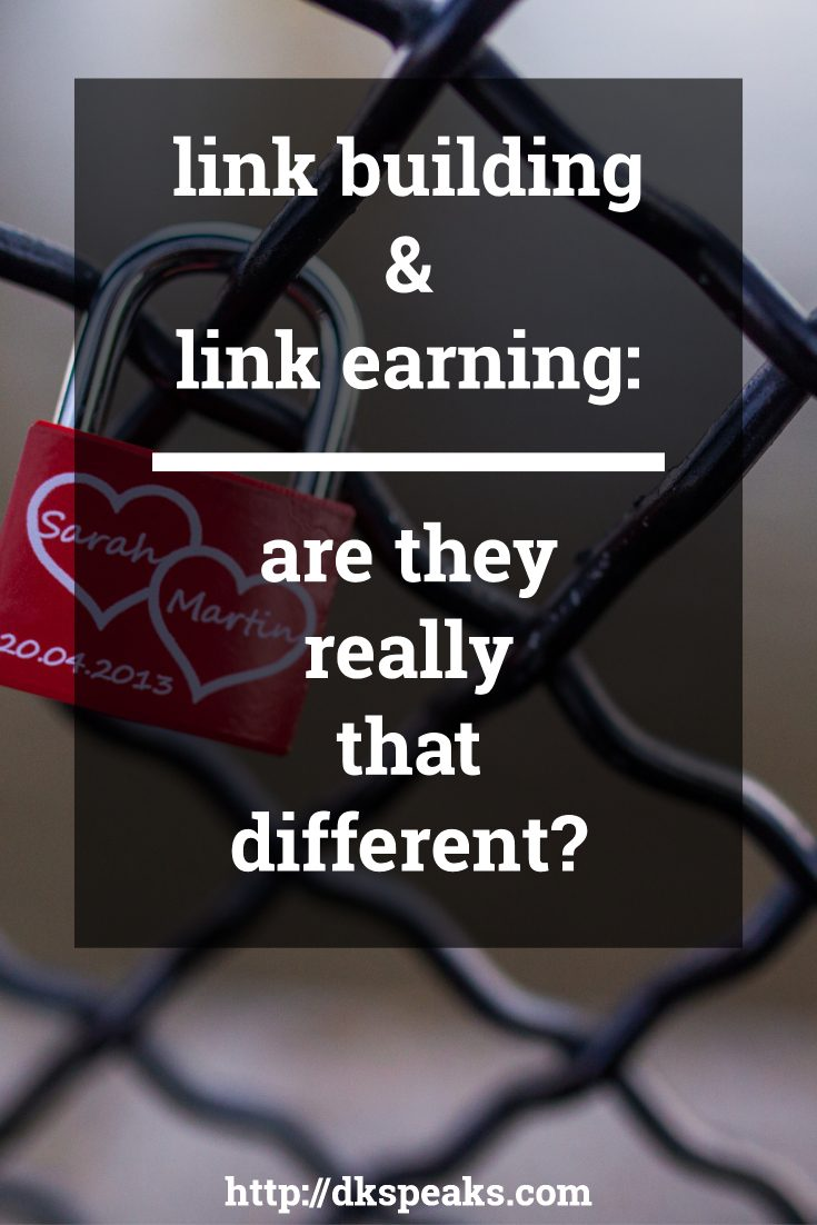 link building and link earning